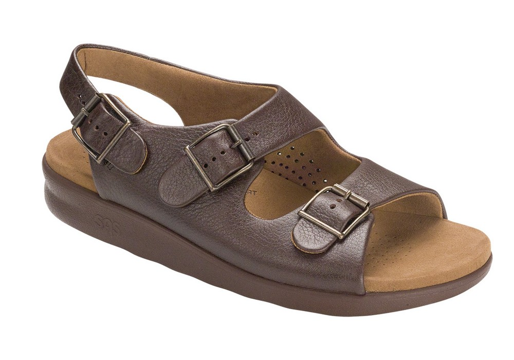 BRAVO Sandal Brown - SAS Shoes