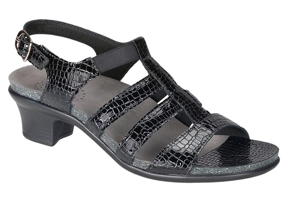 Allegro Black Croc - SAS Women's Sandal