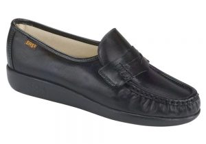 classic womens black slip on