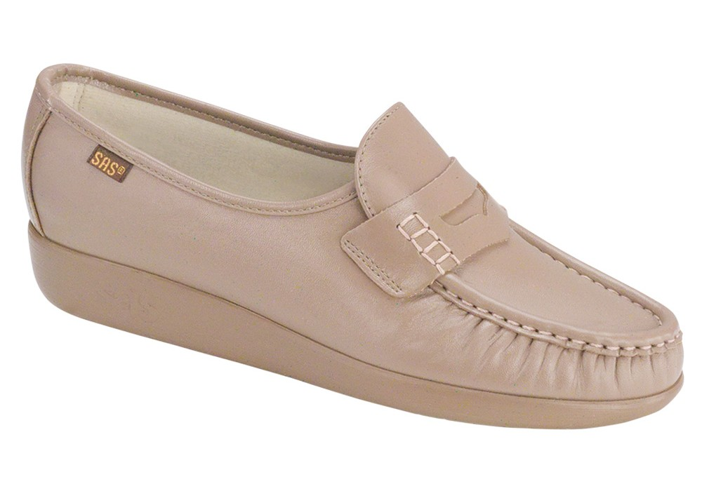 classic womens shoe mocha slip on