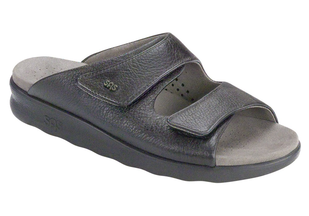 cozy womens black sandal