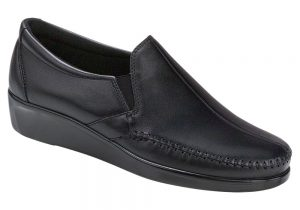 dream black slip on sas shoes