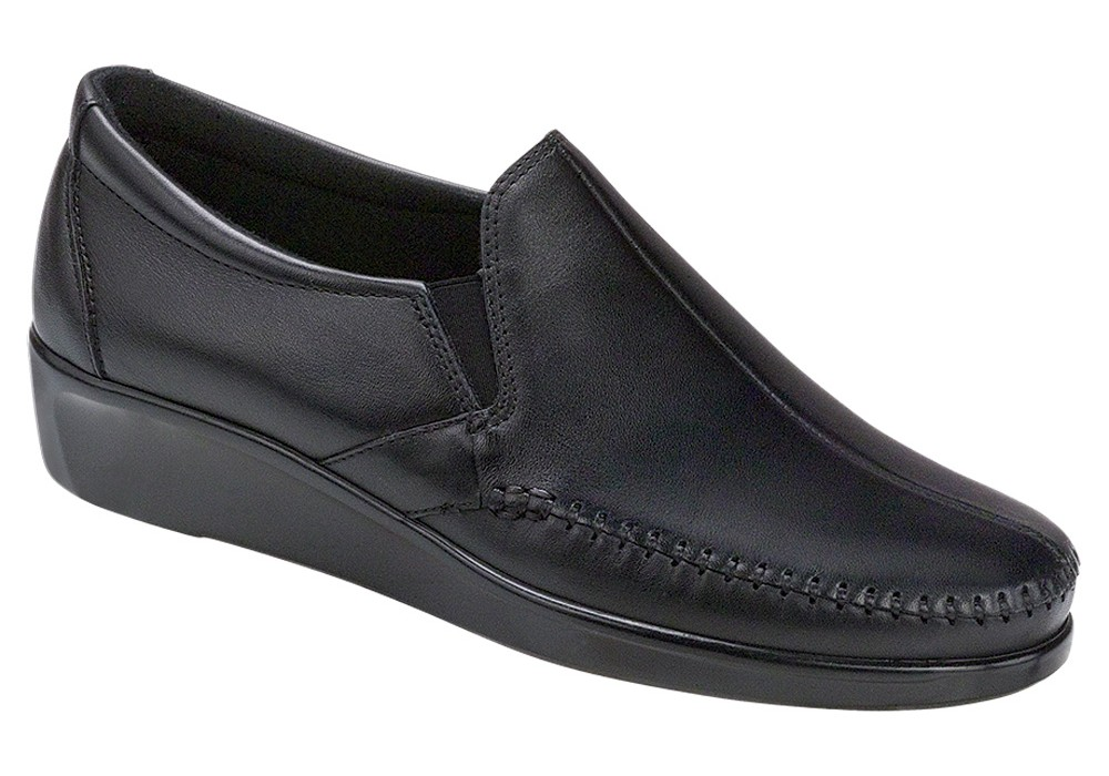 dream black slip on sas shoes