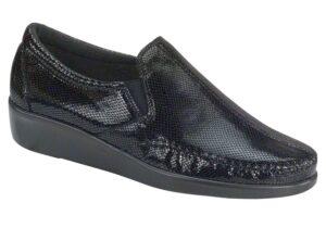dream black snake slip on sas shoes