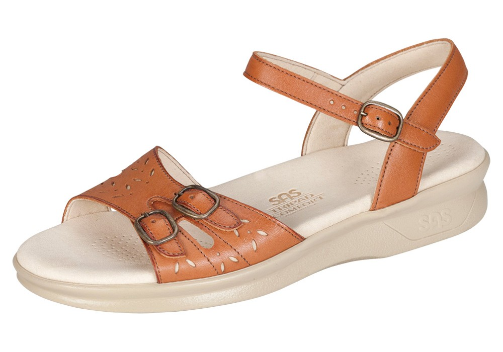 duo womens antique tan leather sandal sas shoes