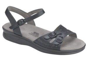 duo womenes black leather sandal sas shoes