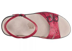 duo womenes red snake leather sandal sas shoes