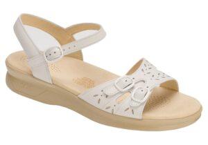 duo womenes white leather sandal sas shoes