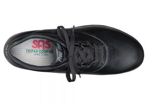 free time black leather active tennis sas shoes
