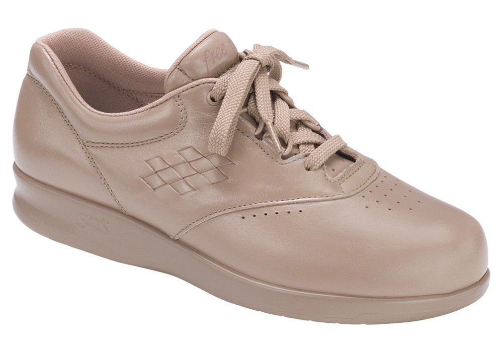 free time mocha womens leather tennis sas shoes