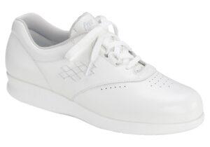 free time white womens leather tennis sas shoes