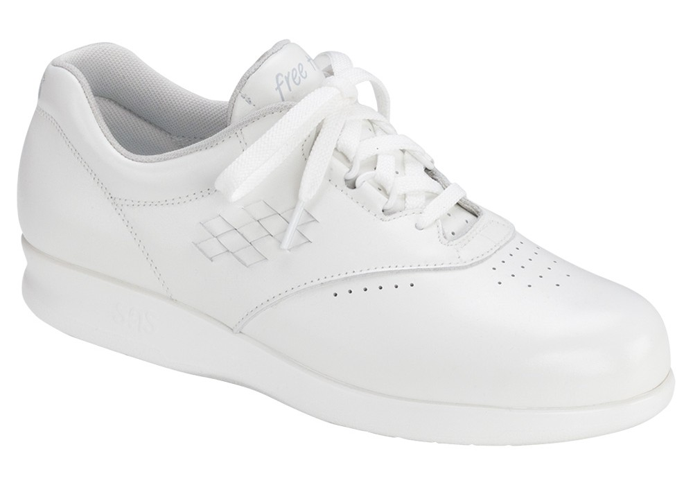free time white womens leather tennis sas shoes