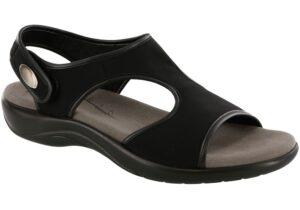 harmony black womens sandal sas shoes