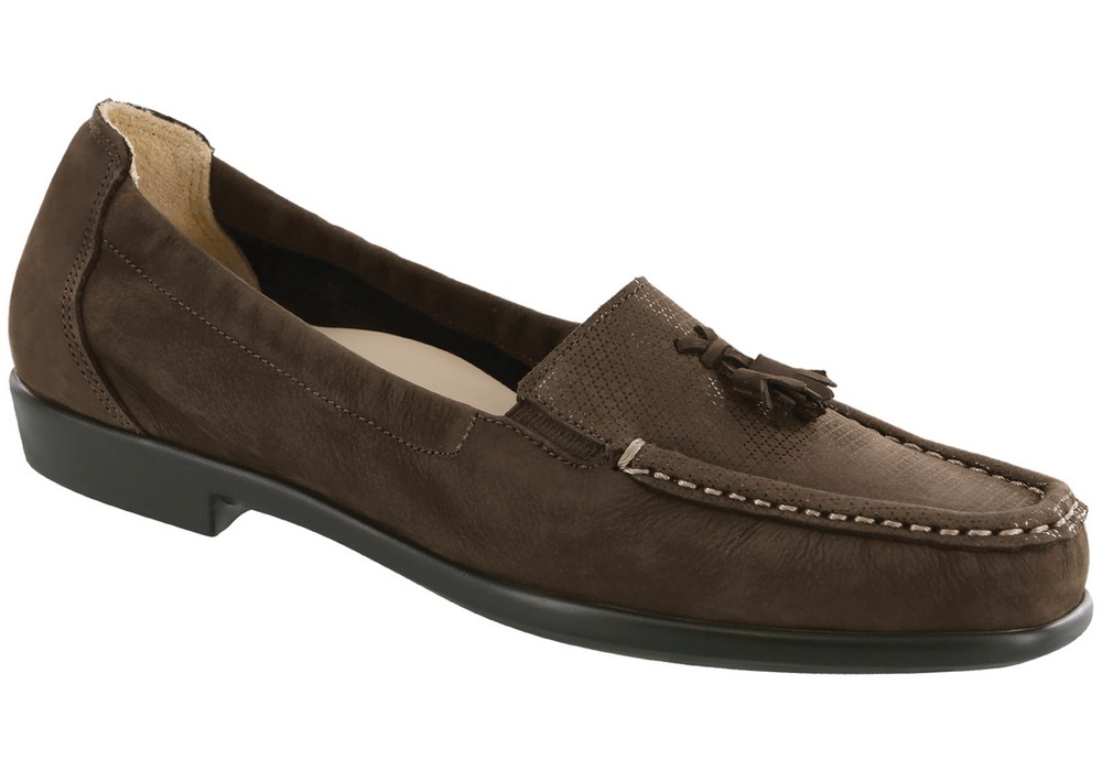 hope womens brown turf slip on dress sas shoes