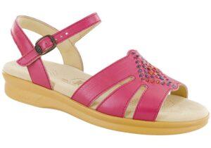 huarache pink leather sandal sas shoes