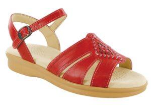 huarache red leather sandal sas shoes