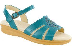 huarache teal leather sandal sas shoes