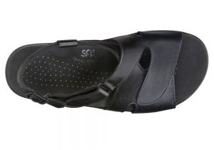 huggy black leather sandal sas shoes
