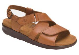 huggy caramel leather sandal sas shoes