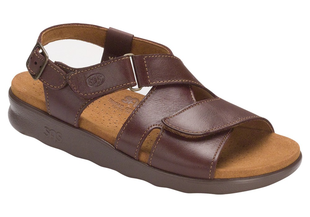 huggy cinnamon leather sandal sas shoes
