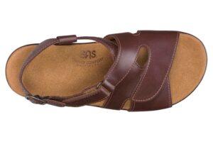huggy cinnamon leather sandal sas shoes