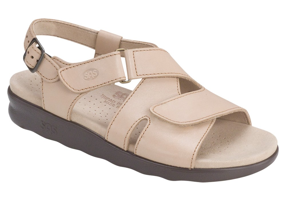 huggy truffle leather sandal sas shoes