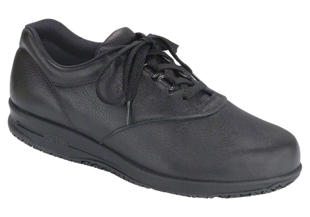 liberty black leather slip resistant medicare sas shoes