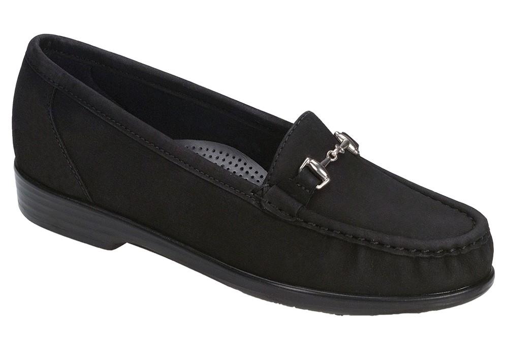 metro womens charcoal nubuck dress slip on sas shoes