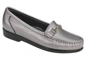 metro womens pewter dress slip on sas shoes