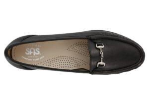 metro womens smooth black dress slip on sas shoes