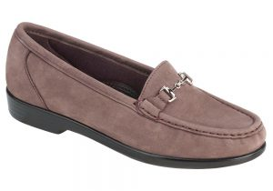 metro womens truffle nubuck dress slip on sas shoes