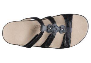 naples womens black snake leather sandal sas shoes