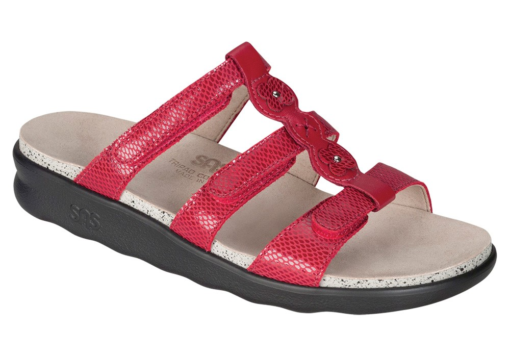 naples womens red snake leather sandal sas shoes