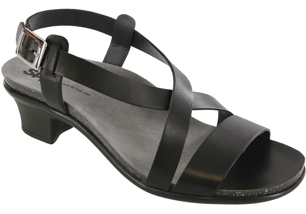 nouveau black leather sandal sas shoes