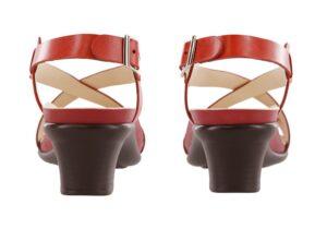 nouveau red leather sandal sas shoes