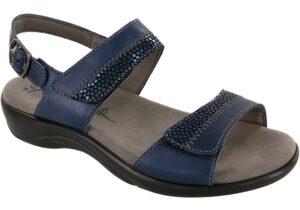 nudu navy leather sandal sas shoes