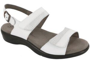 nudu white leather sandal sas shoes