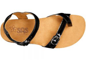 pampa womens black patent leather sandal sas shoes