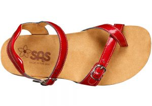 pampa womens red lipstick leather sandal sas shoes