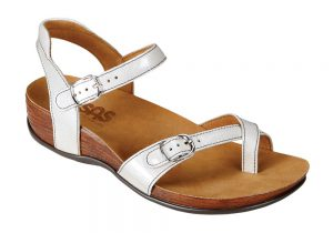 pampa womens pearl white leather sandal sas shoes