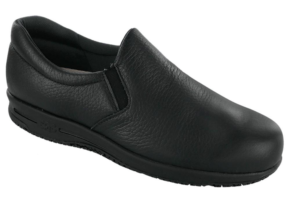patriot womens black slip on work sas shoes