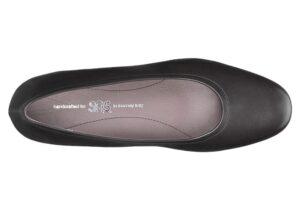 regina black leather slip on dress pump sas shoes