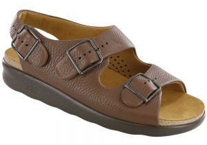relaxed womens amber leather sandal sas shoes