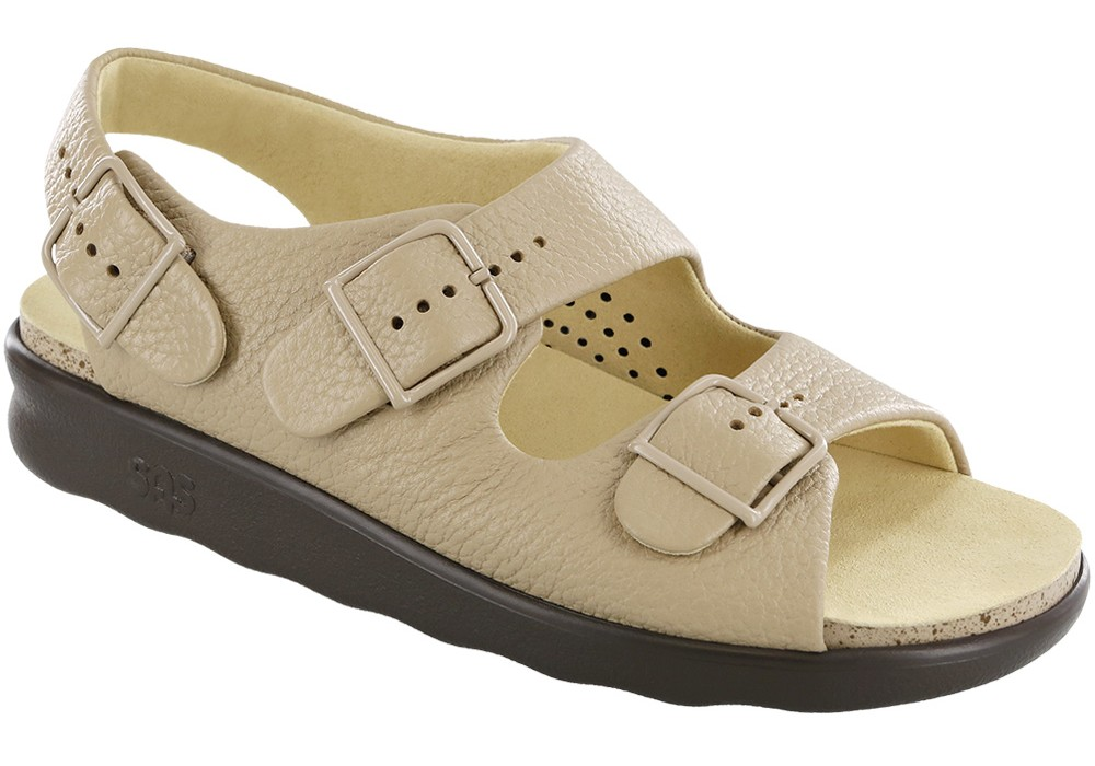 relaxed womens natural leather sandal sas shoes