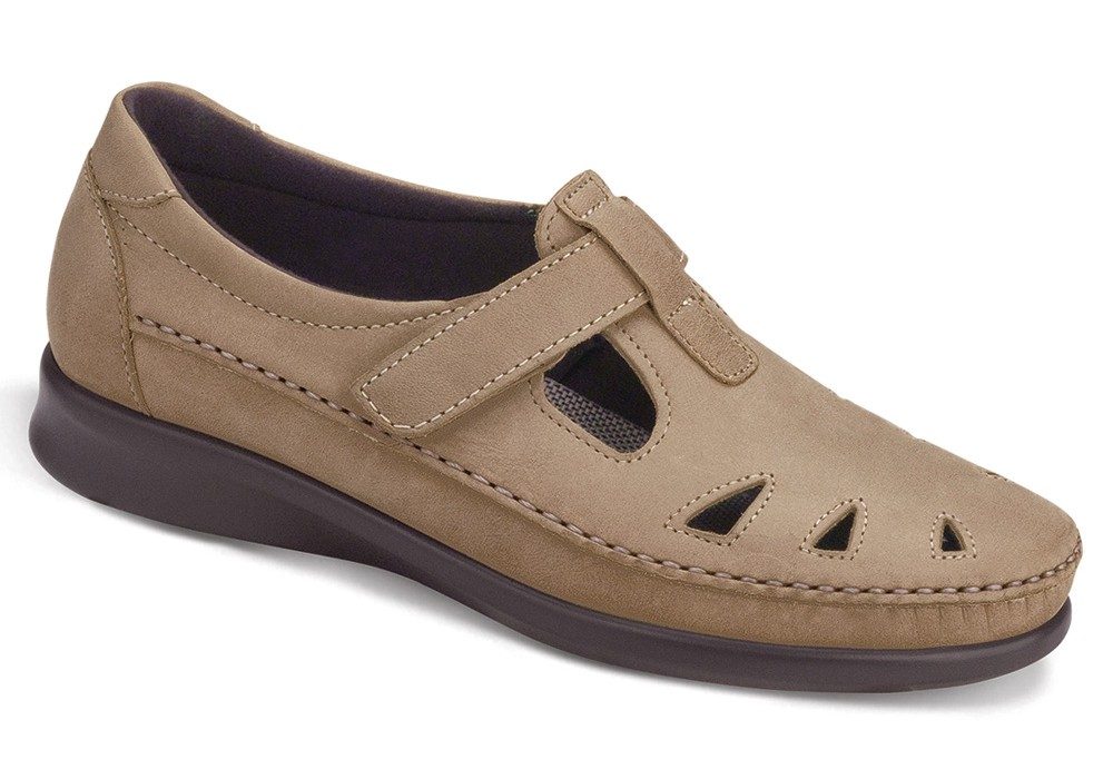 roamer sage leather slip on sas shoes