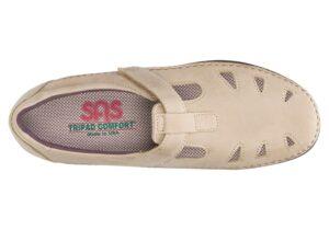 roamer sage leather slip on sas shoes