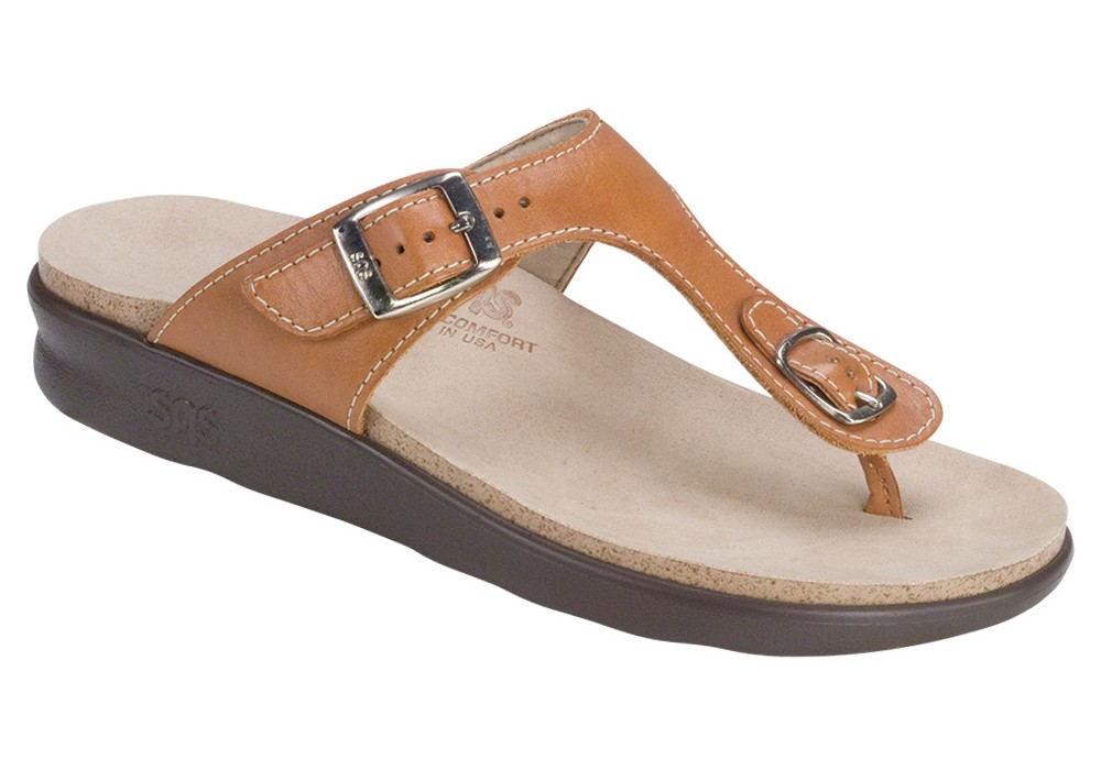 sanibel womens caramel leather sandal sas shoes