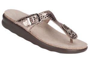 sanibel womens oro foil leather sandal sas shoes