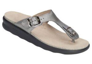 sanibel womens pewter leather sandal sas shoes