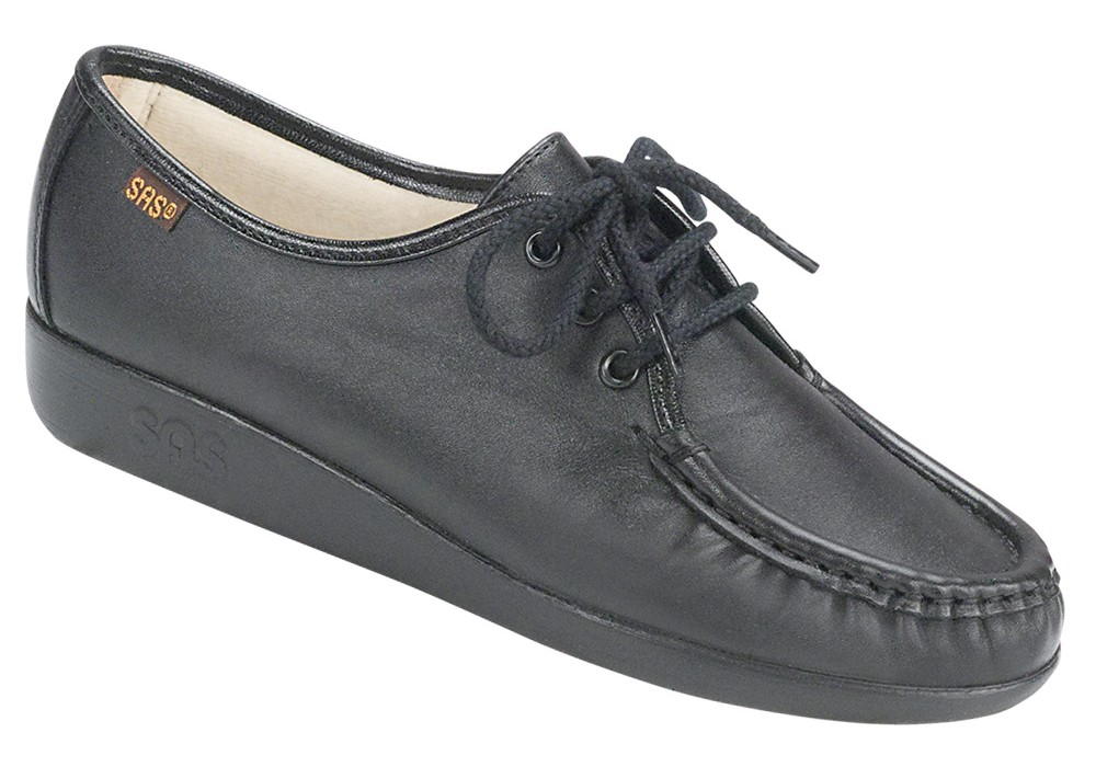 siesta black leather oxford sas shoes